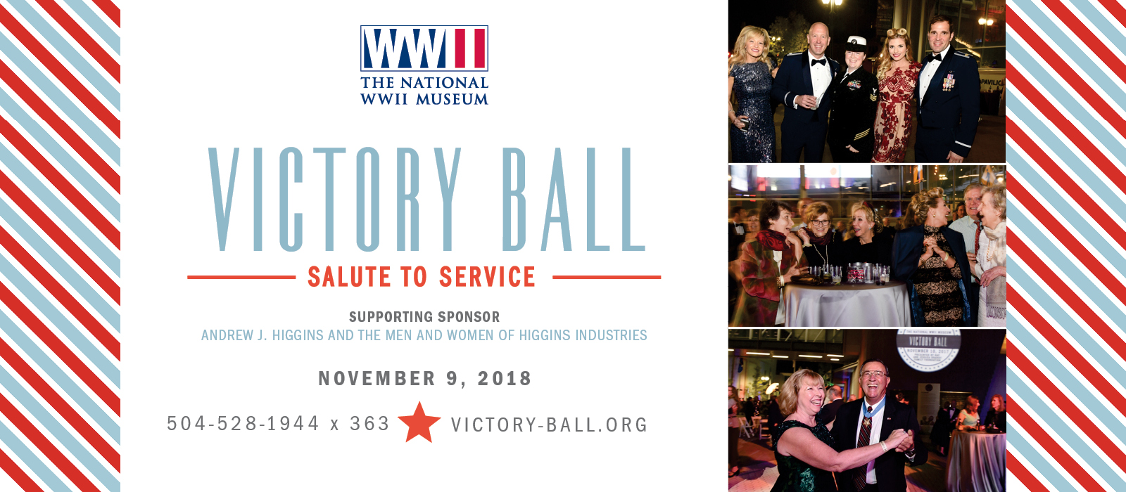 Victory Ball at The National WWII Museum in New Orleans on November 10, 2017