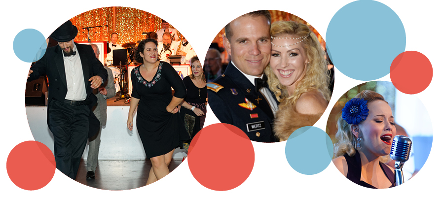 Dancing and entertainment at the Victory Ball Gala